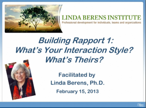 Building Rapport 1-What's Your Interaction Style-first slide